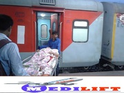 Get Train Ambulance from Delhi by Medilift with Best Medical Facility